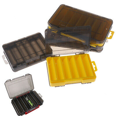 Double Sided 12 Compartment Fishing Lures Box Tackle Hooks Baits Plafa • 6.85£
