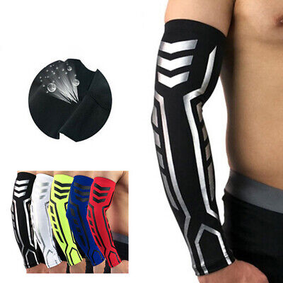 Compression Arm Cuff Sleeve Cover Cycling Riding Running UV Sun Protect Npfa • 6.61£
