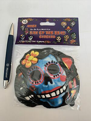 £1.49 • Buy Halloween Dia De Los Muertos Day Of The Dead Pack Of 10 Cutouts Wall Stickers