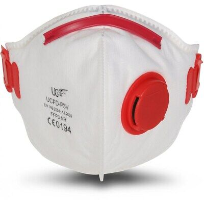 £23.09 • Buy UC AIR UCFD-P3V FFP3 Valved Fold Flat Particulate Dust Respirator Mask Box Of 10