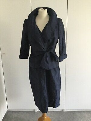ALEX & CO Blue Mother Of The Briide / Occasion Dress & Jacket Size 14 • 6.99£