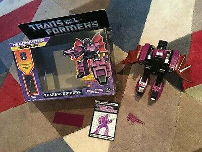 MINDWIPE G1 Transformer Original Vintage Boxed Decepticon Headmaster Hasbro 1987 • 40£