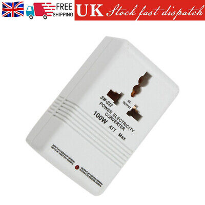 AC 110V/120V To 220V/240V 100W Transformer Step Up&Down Dual Voltage Converter • 11.95£