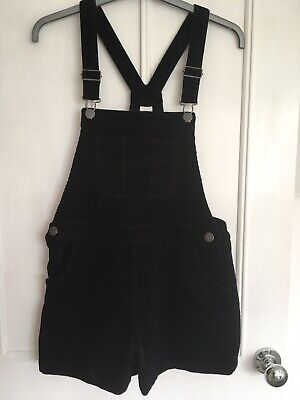 Next Dungarees Girl Age 13-14. Black, Cord, Short. Excellent Condition • 8£