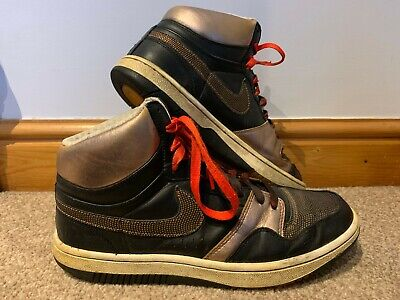 Nike Court Force High Top Trainers - Black & Gold - UK Size 9 • 27.99£
