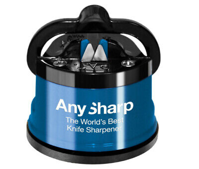 AnySharp Knife Sharpener With PowerGrip, *****free Delivery***** • 11.99£