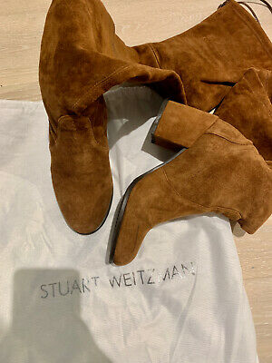 Stuart Weitzman Brown High-Heels Suede Boots UK3 - USED • 115£