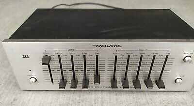 $ CDN50 • Buy Vintage Realistic Band Stereo Frequency Equalizer Model 31-1988A