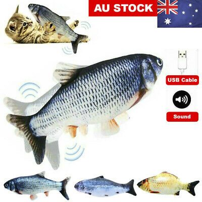 AU11.99 • Buy Electric Dancing Fish Kicker Cat Toy Wagging Realistic Moves USB Rechargeable