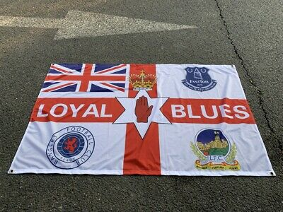 Everton Loyal Blues Rangers Linfield 3 X 5ft  Flag/banner  • 11.99£