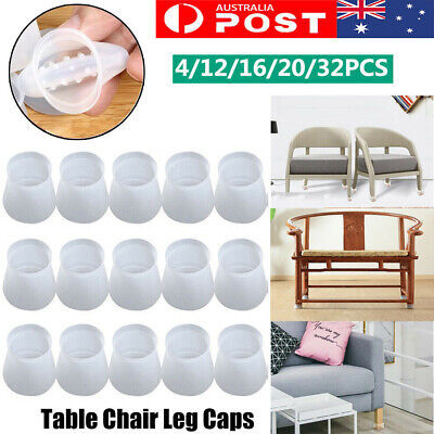 AU14.99 • Buy 32PC Chair Leg Silicone Caps Pad Furniture Table Feet Cover Wood Floor Protector