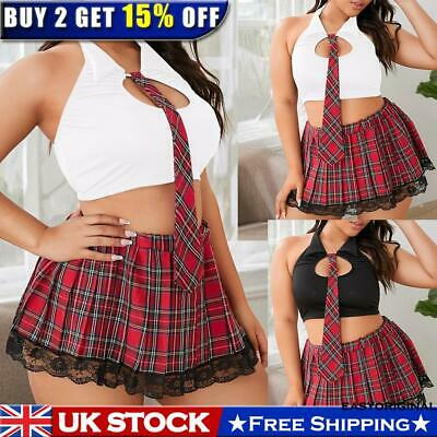 School Girl Ladies Lingerie Sleepwear Women Babydoll Robe Underwear Night Dress • 10.99£