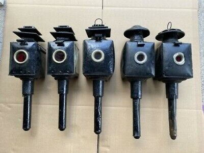 Victorian Horsedrawn Carriage Lanterns/lights. Railway, Buggy , 5 Nr,   • 40£
