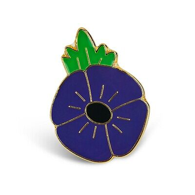 Purple P0ppy Badge Pin. Lest We Forget. Animal. Metal. Enamel. • 2.99£