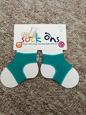 Baby Sock Ons Sock Keepers Size 0-6 Months Green • 3£