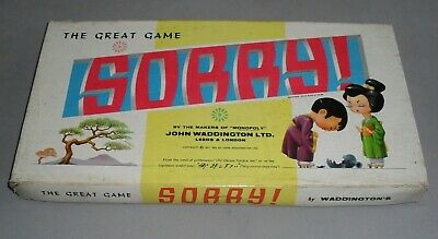 Sorry Fun Family Childs Board Game Waddingtons 1963 COMPLETE VGC RARE • 16.99£