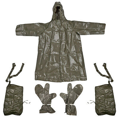 $20.71 • Buy Army Waterproof Poncho Original Czech Military Protection Suit Glove Leg Cover