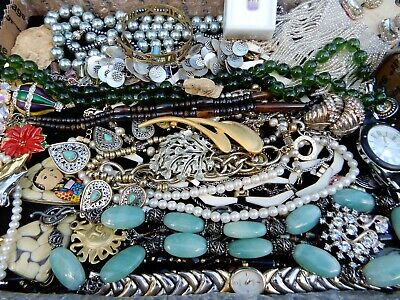 $ CDN23.03 • Buy Vintage Jewelry Lot Necklaces Bracelets Earrings Brooches Watches Chains Lot