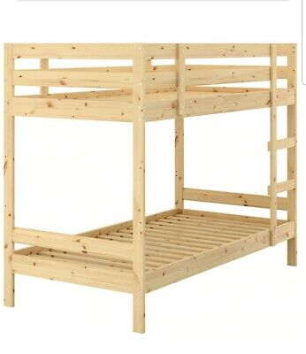 Ikea Single Bunk Bed Frame,pine, 90×200cm, Collection Only • 70£