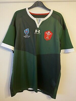 OFFICIAL UNDER ARMOUR WALES WRU Away RUGBY JERSEY  XL World Cup • 16.99£