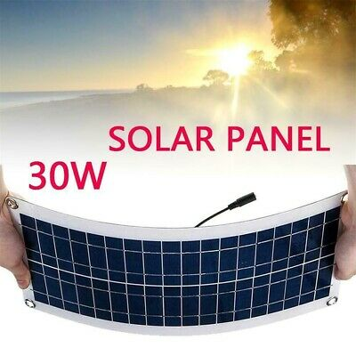 HOT!30W-12V-Dual-USB-Solar-Panel-Flexible-Battery-Charger-Kit-Car-40A-Controller • 24.66£