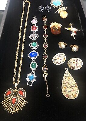 $ CDN66.82 • Buy Sarah Coventry Lot Vintage Jewelry Signed 15 Pieces Brooch, Cuff Links, Pendant