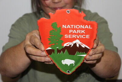 $ CDN105.59 • Buy National Park Service Hunting Fishing Camping Gas Oil Porcelain Metal Sign