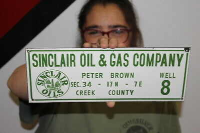 $ CDN40.10 • Buy Sinclair Oil & Gas Company Well Lease Porcelain Metal Sign