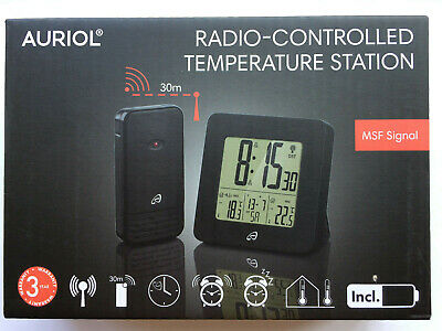 Climate Weather Temperature Controlled Station MSF SIGNAL 30m Range Black BNISB • 17.99£