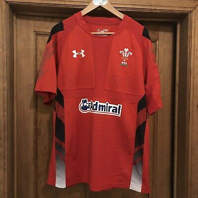Wales Under Armour XL Player Version Rugby Union Shirt  Admiral Sponsored • 4£