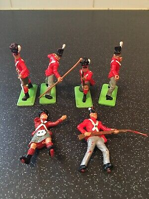 Vintage Britains Deetail Napoleonic British Infantry Waterloo Toy Soldiers • 2.20£