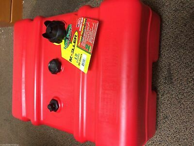 $147.99 • Buy NEW Moeller A/D 12-Gallon High Profile Portable Boat Fuel Tank With Gauge Marine