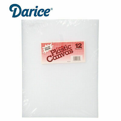 £13.69 • Buy Darice Clear Plastic Canvas Count Sheet *10.5 X 13.5-Inch* 7 Craft  Pack Of 12