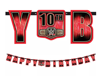 £6.88 • Buy WWE Wrestling Smash Letter Banner Boys Birthday Party Hanging Decorations Supply