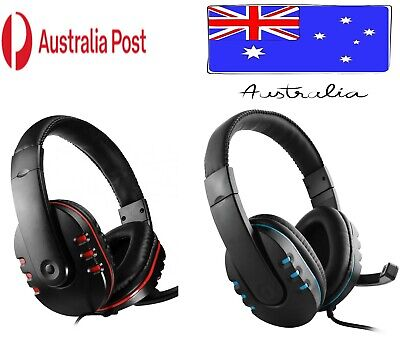 AU17.95 • Buy Durable Stereo Gaming Headset Headphone Wired With Mic For PC Xbox One PS4 AUS