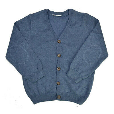 EX.NEXT BABY BOYS BLUE COTTON BLEND KNIT CARDIGAN Ages From Newborn To 18m • 5.95£