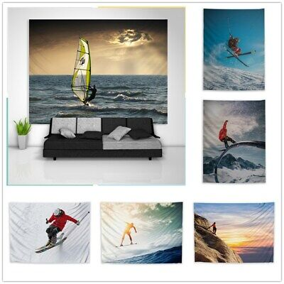 Outdoor Sports Surfing Climbing  Tapestry Art Wall Hanging Cover Home Decor • 9.99£