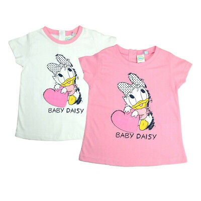 DISNEY DAISY DUCK COTTON T-SHIRT  WHITE Or PINK Ages 2 1/2 Years  • 6.95£