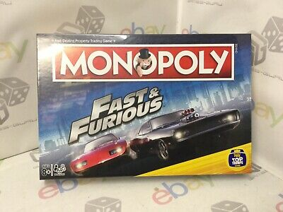 MONOPOLY - Fast And Furious. Property Trading Board Game. Family Fun. NEW SEALED • 29.99£