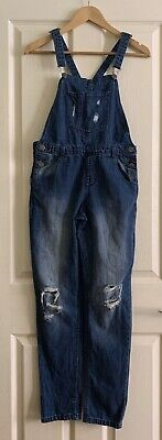 Girls Denim Dungarees Age 13 Years Great Casual • 4.99£