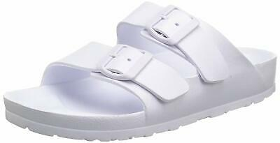 Skechers Women's Cali Breeze - Thunder Bolt - Two Band Slide, White, Size 6.0 • 28.99£