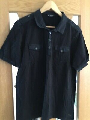 Marks And Spencer Autograph Men's Black Polo Shirt Size XXL • 9£
