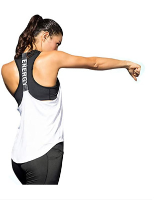 Afocuz Women Sports Vest Top Quick-Drying Loose Base-layer Tank Top Size XXL • 7.99£