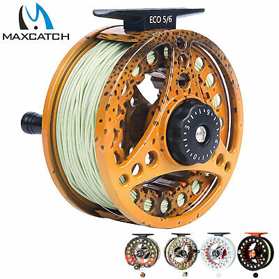 $ CDN43.03 • Buy Maxcatch 3/4 5/6 7/8wt Pre-Loaded Fly Fishing Reel With Fly Line, Backing,Leader