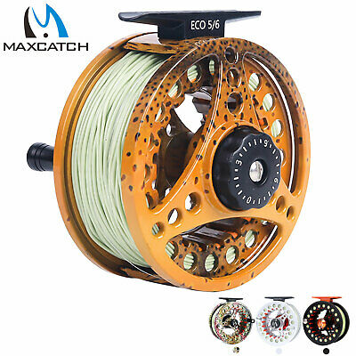 $ CDN47.19 • Buy Maxcatch 3/4 5/6 7/8wt Pre-Loaded Fly Fishing Reel With Fly Line, Backing,Leader