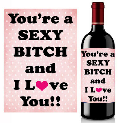 Funny Romantic Gift For Wife Bottle Label Birthday Christmas Gift For Her • 2.25£