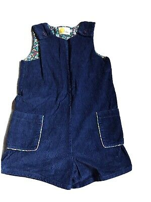 Girls Mini Boden Blue Corduroy Dungarees Age 9 - 10 Years • 9.50£