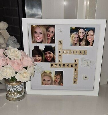 Framed Pictures & Scrabble Message Personalised, Perfect Gift For Him Or Her • 20.99£