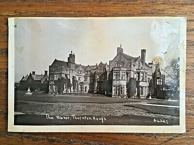 VINTAGE C1931 PHOTOGRAPH POSTCARD The Manor, Thornton Hough, Wirral, Merseyside • 2.95£