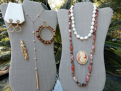 $ CDN9.87 • Buy ALL Signed Miriam Haskell Vintage Lot Necklaces Bracelet Brooches Earrings